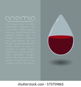 Anemia design concept. Drop of blood