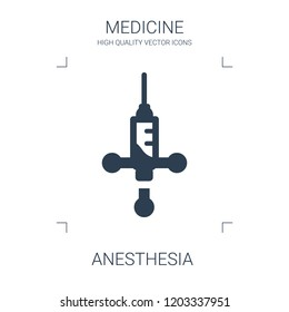 anesthesia icon. high quality filled anesthesia icon on white background. from medical collection flat trendy vector anesthesia symbol. use for web and mobile