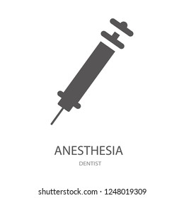 Anesthesia icon. Trendy Anesthesia logo concept on white background from Dentist collection. Suitable for use on web apps, mobile apps and print media.