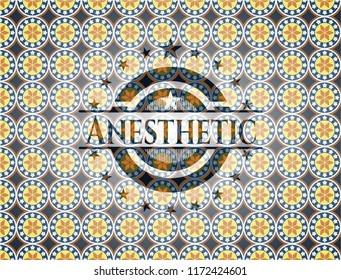 Anesthetic arabesque emblem. arabic decoration.