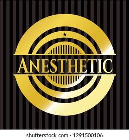 Anesthetic gold emblem