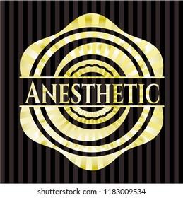 Anesthetic gold shiny badge