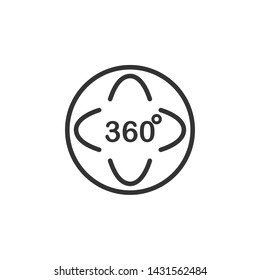 Angel 360 degree icon template black color editable. Angel 360 degree symbol Flat vector sign isolated on white background. Simple logo vector illustration for graphic and web design.