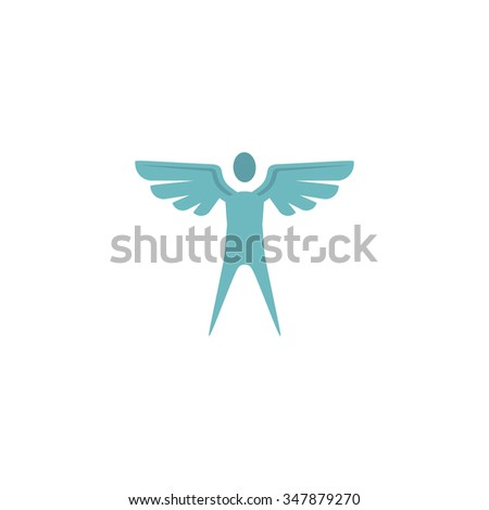 Angel Color Vector Icon On White Stock Vector (Royalty Free ...