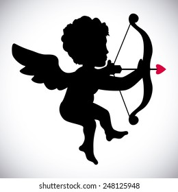 angel cupid design, vector illustration eps10 graphic