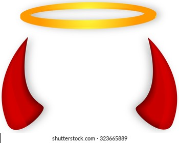 Angel and devil horns halo