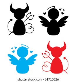 Angel and Devil icons.