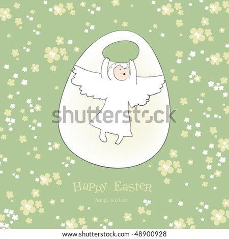 Angel egg happy easter greetings contains stock vector royalty free happy easter greetings contains mesh m4hsunfo