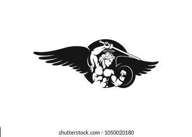 Angel fighting Vector