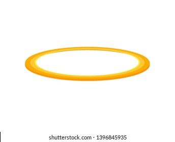 Angel halo ring saint aureole flat icon. Holy ring angel halo isolated nimbus gold circle.