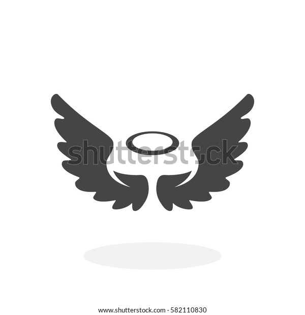 Angel icon isolated on white background. Angel vector logo. Flat design style. Modern vector pictogram for web graphics - stock vector