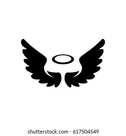 Angel icon. Vector logo illustration isolated sign symbol