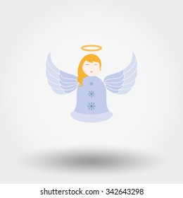Angel. Icon for web and mobile application. Vector illustration on a white background. Flat design style.