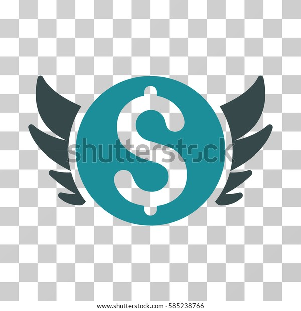 Angel Investment icon. Vector illustration style is flat iconic bicolor symbol, soft blue colors, transparent background. Designed for web and software interfaces.