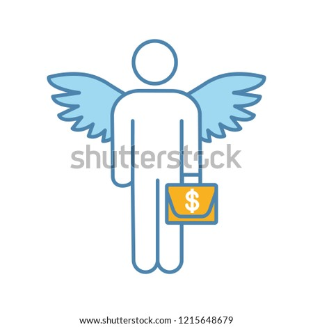 Angel Investor Color Icon Business Angel Stock Vector (Royalty Free ...