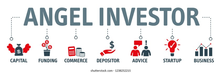 Angel investor vector icons. Business angel. Informal investor. Investment. Founder.