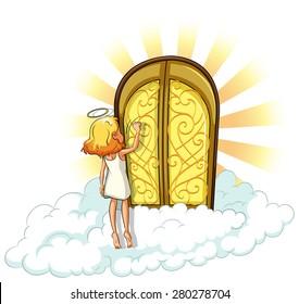Angel knocking on the heaven door