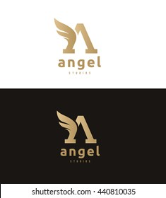 Angel, A letter logo template