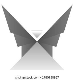 Angel Mountain Vector Grey Logo