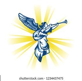 Angel Trumpet. Vector illustration.
