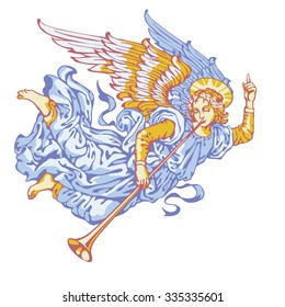 Angel trumpeter in six colors on a white background