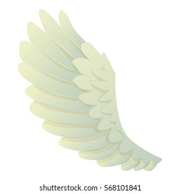 Angel wing icon logo. Cartoon illustration of angel wing vector icon logo isolated on white background
