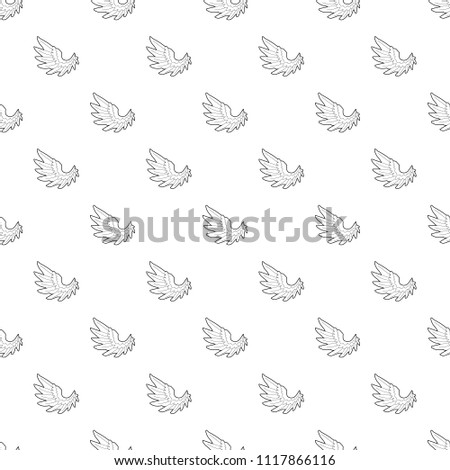 angel wing pattern vector seamless repeating stock vector royalty