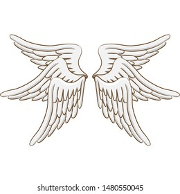 angel wing vector graphic clipart design