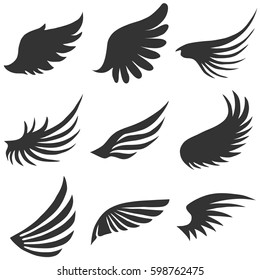 Angel wings. Flat design, vector illustration, vector.