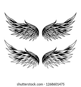 Angel Wings isolated vector template design