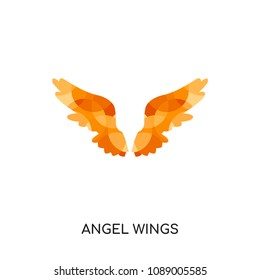 angel wings logo isolated on white background for your web and mobile app design , colorful vector icon