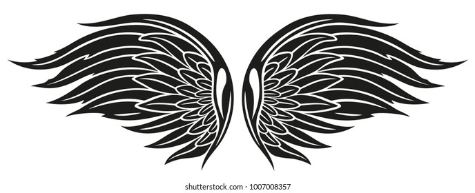 Angel wings. Symbol for freedom.