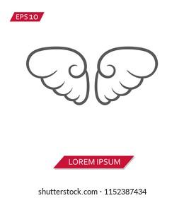 angel wings vector icon symbol