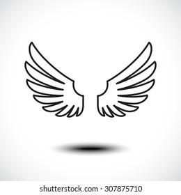 Angel wings. Vector illustration