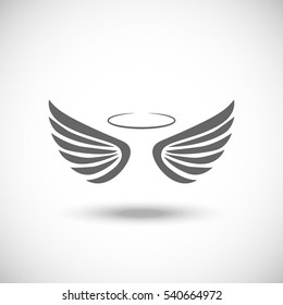 Angel wings vector.Wings icon.