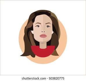 Angelina Jolie vector illustration