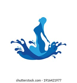 angels fountain splash anggels water fall women water exclusive logo design inspiration