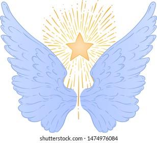 Angel Wings Hand Draw Stock Vectors Images Vector Art Shutterstock