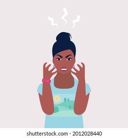 Anger, explosion, negative emotions concept. Irritation, rage, stages emotional outburst. Simple flat vector