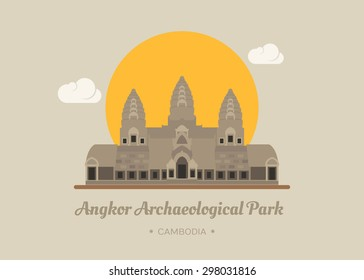 Angkor Wat Temple, Siem reap, Cambodia , eps10 vector format