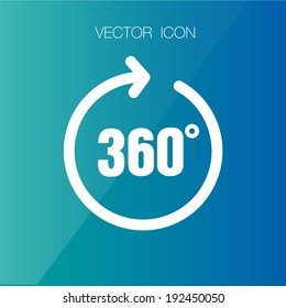 Angle 360 degrees sign icon, vector illustration. Flat design style
