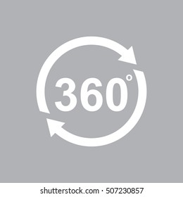 Angle 360 degrees vector icon