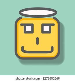 Angle Face  Icon. Face Icon Vector