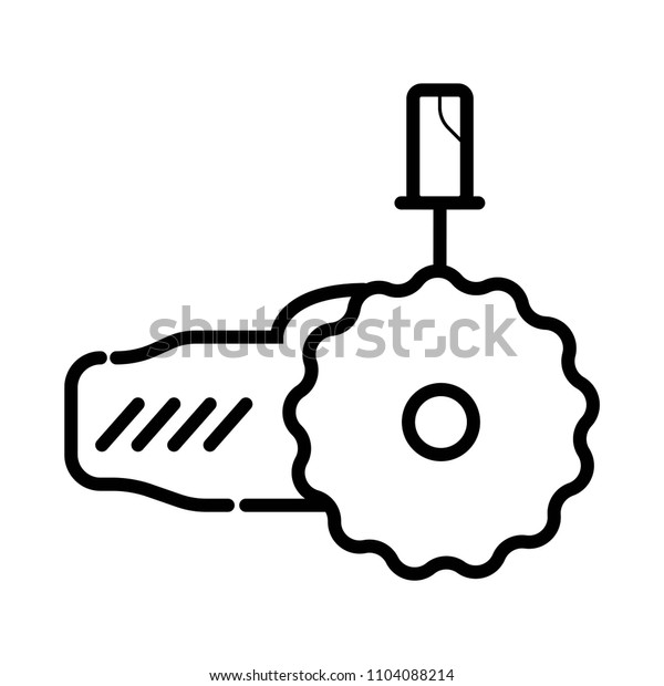 Angle grinder line icon