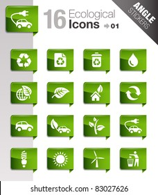 Angle Stickers - Ecological Icons