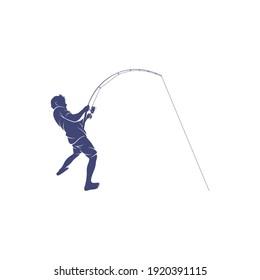 Angler design vector illustration, Creative Angler logo design concepts template, icon symbol