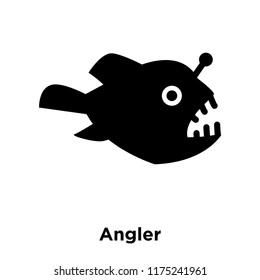 Angler icon vector isolated on white background, logo concept of Angler sign on transparent background, filled black symbol