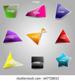 Angles and Glossy Banner vector