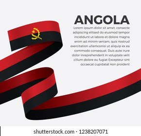 Angola flag for decorative.Vector background