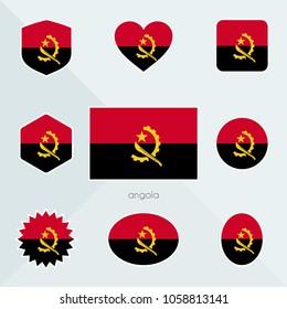 Angola flag. National flag of Angola. Angola vector flag button.